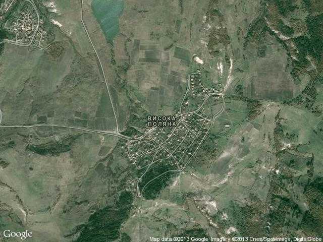 Сателитна карта на Висока поляна