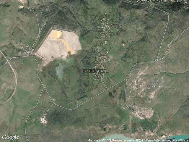 Сателитна карта на Вишеград