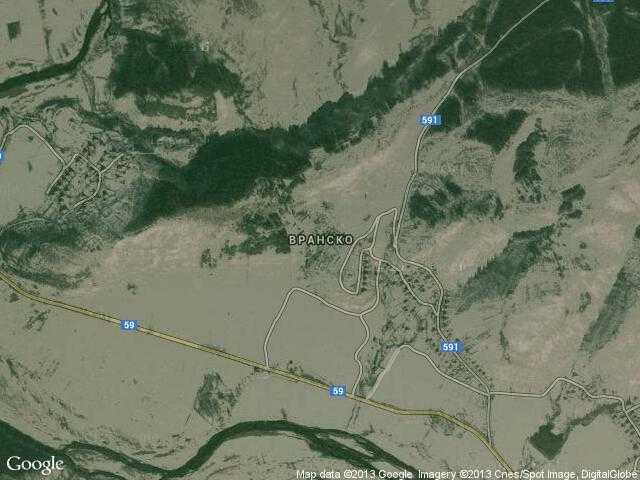 Сателитна карта на Вранско