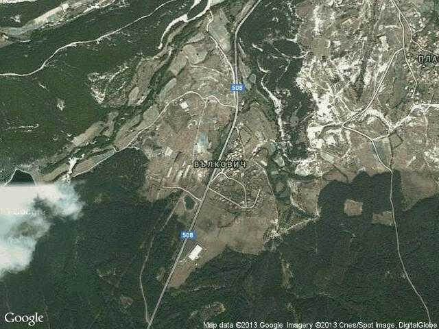 Сателитна карта на Вълкович