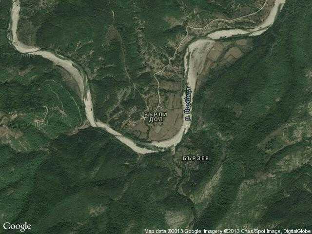 Сателитна карта на Върли дол