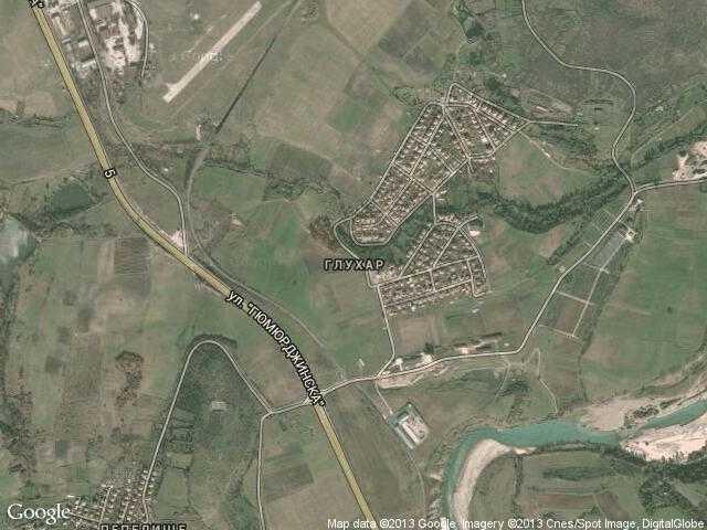 Сателитна карта на Глухар