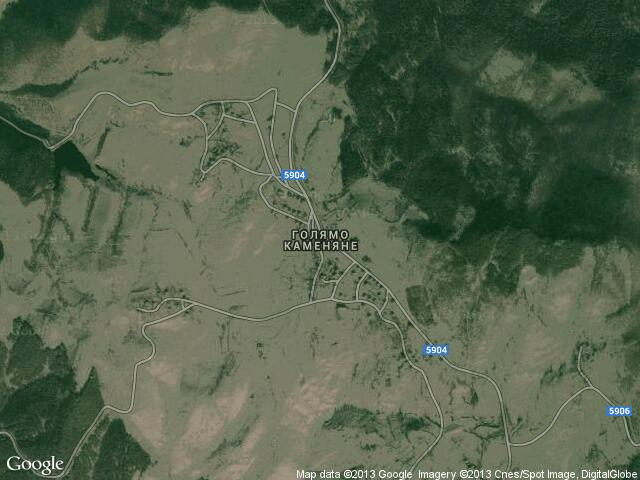 Сателитна карта на Голямо Каменяне