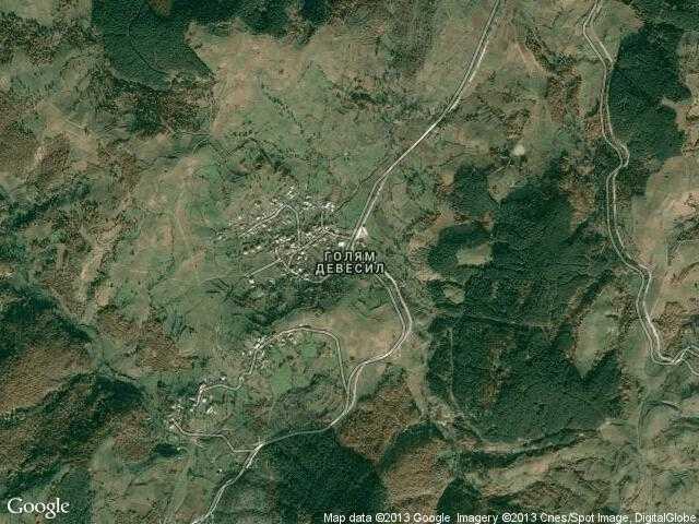 Сателитна карта на Голям Девесил
