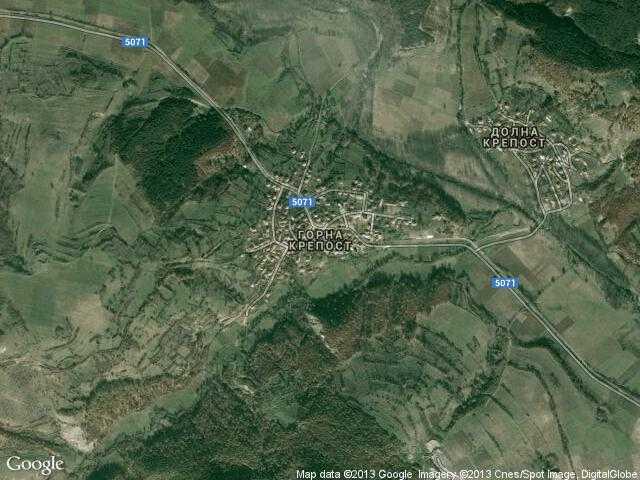 Сателитна карта на Горна крепост
