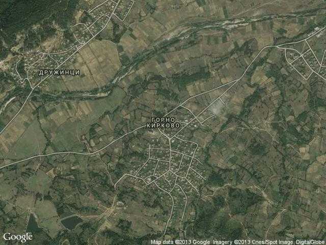 Сателитна карта на Горно Кирково
