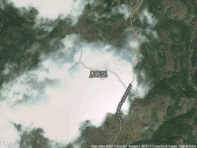 Сателитна карта на Горско Дюлево