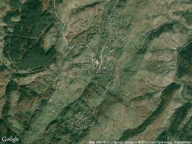 Сателитна карта на Девесилово