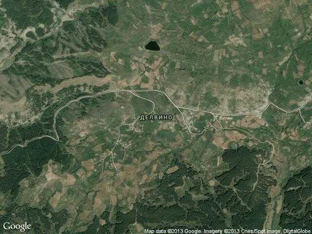 Сателитна карта на Делвино
