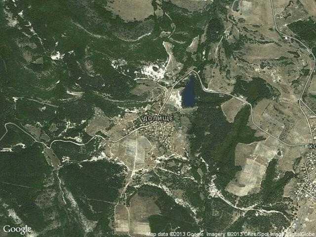 Сателитна карта на Долище
