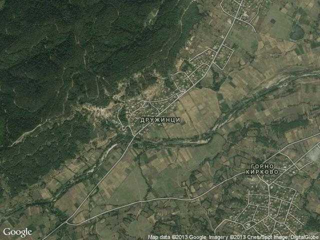 Сателитна карта на Дружинци