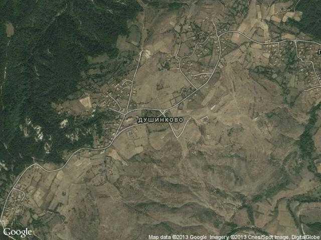 Сателитна карта на Душинково