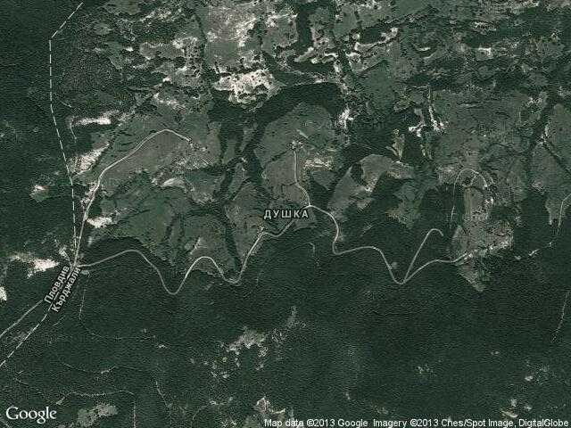 Сателитна карта на Душка