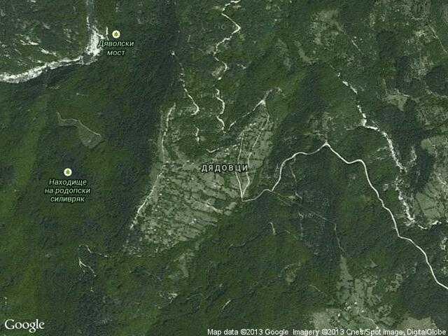 Сателитна карта на Дядовци