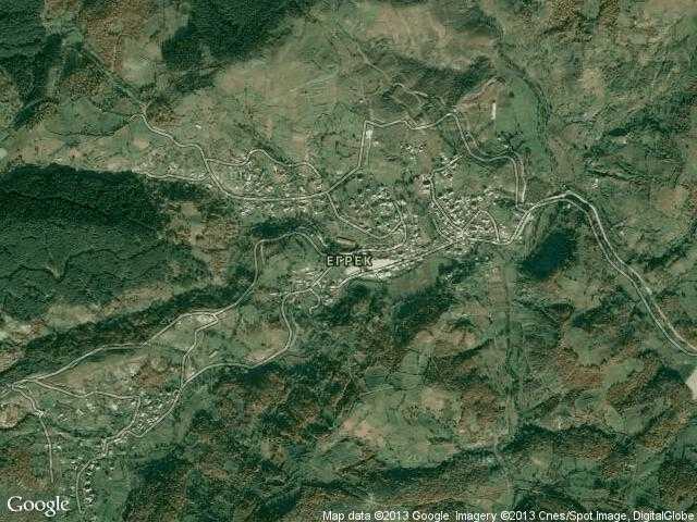 Сателитна карта на Егрек