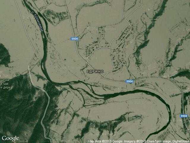 Сателитна карта на Едрино