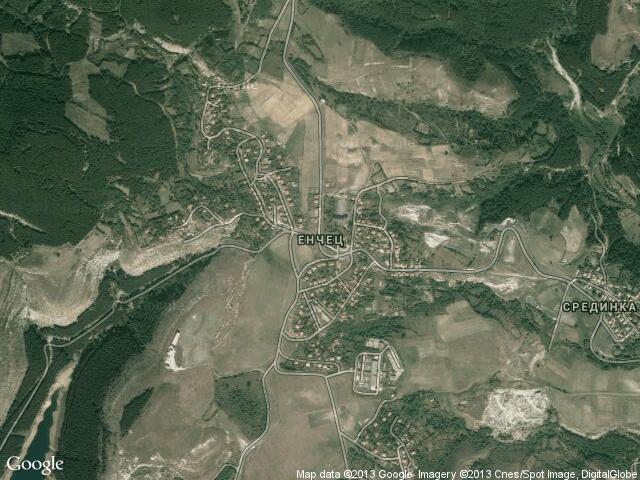 Сателитна карта на Енчец