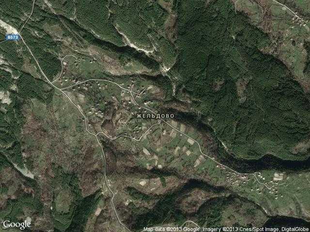 Сателитна карта на Желъдово
