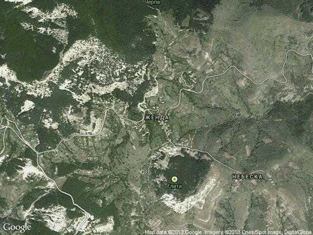 Сателитна карта на Женда