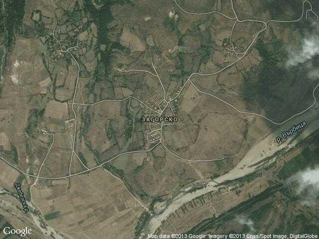 Сателитна карта на Загорско