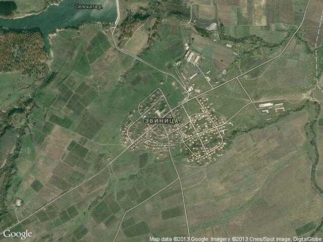 Сателитна карта на Звиница