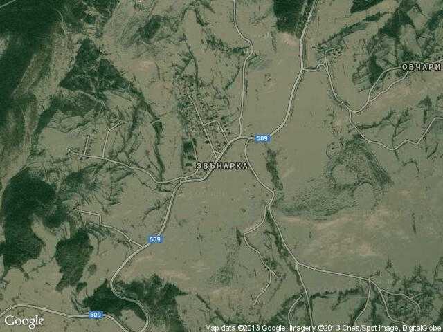 Сателитна карта на Звънарка