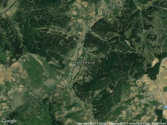Сателитна карта на Зиморница