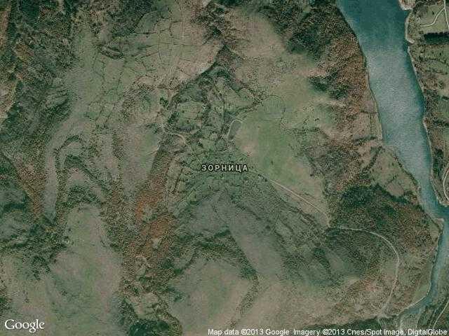 Сателитна карта на Зорница