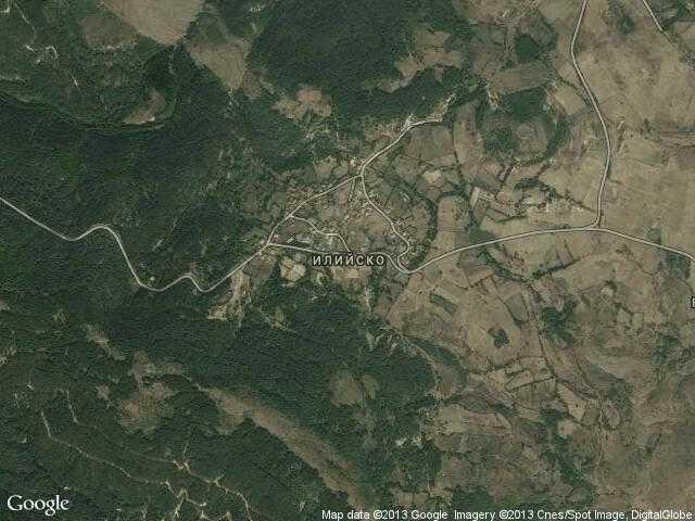 Сателитна карта на Илийско