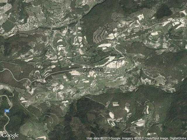 Сателитна карта на Йончово