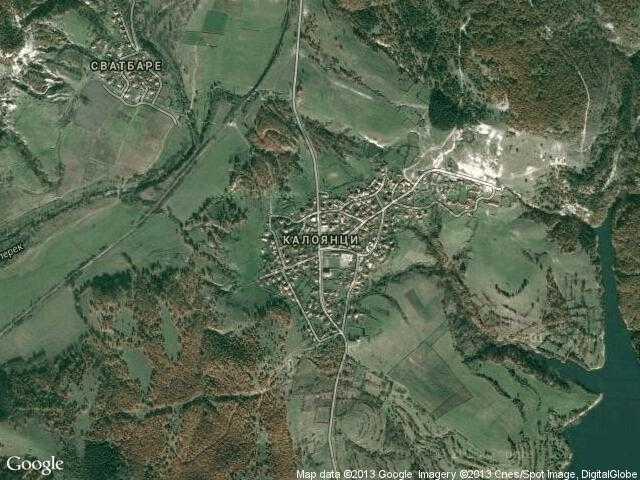 Сателитна карта на Калоянци