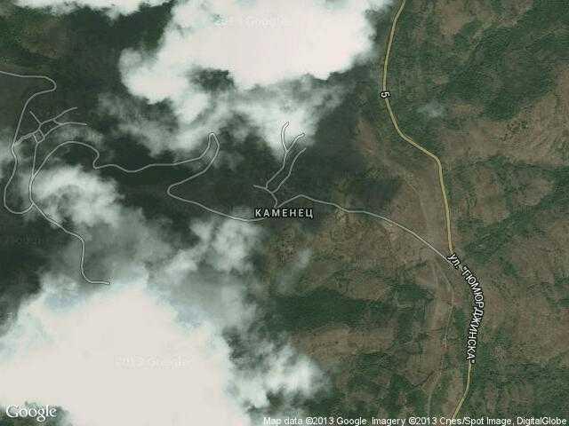 Сателитна карта на Каменец