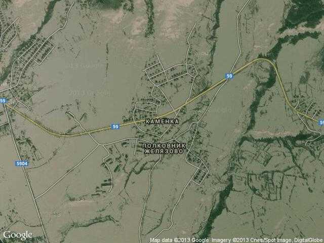 Сателитна карта на Каменка