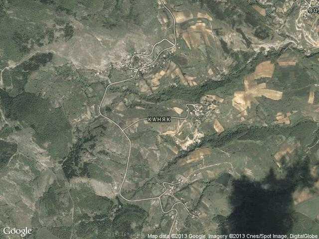 Сателитна карта на Каняк