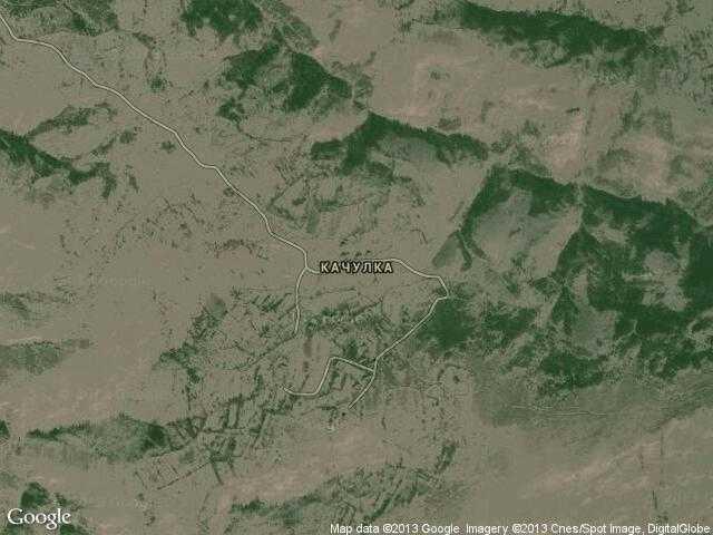Сателитна карта на Качулка