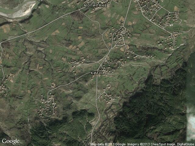 Сателитна карта на Китна