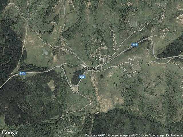 Сателитна карта на Кобиляне
