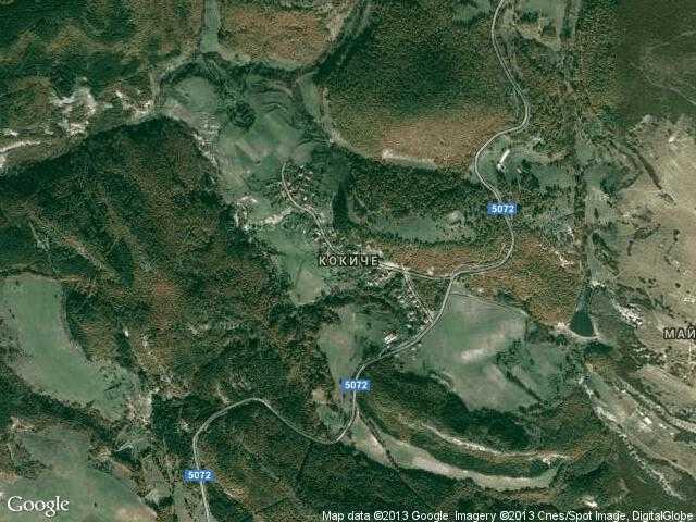 Сателитна карта на Кокиче