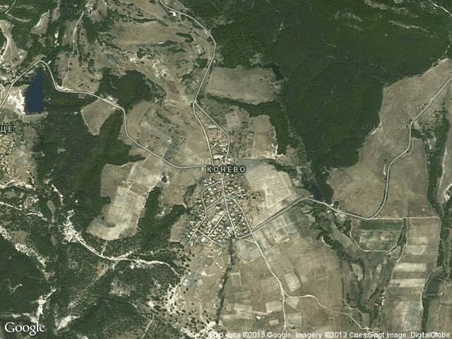 Сателитна карта на Конево