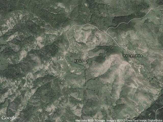 Сателитна карта на Куцово