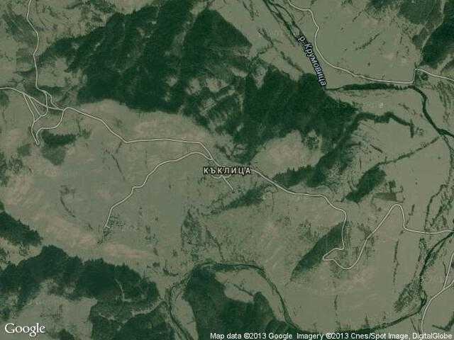 Сателитна карта на Къклица