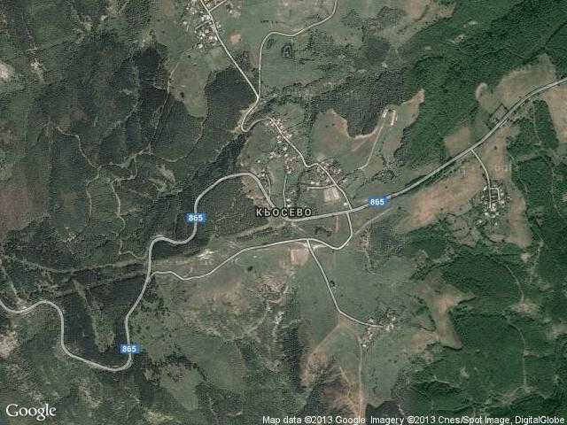 Сателитна карта на Кьосево
