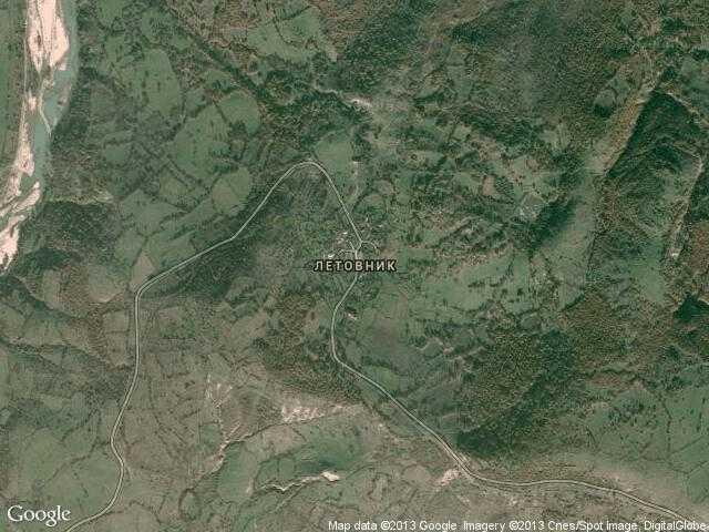 Сателитна карта на Летовник