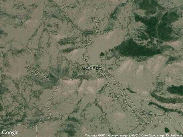 Сателитна карта на Луличка