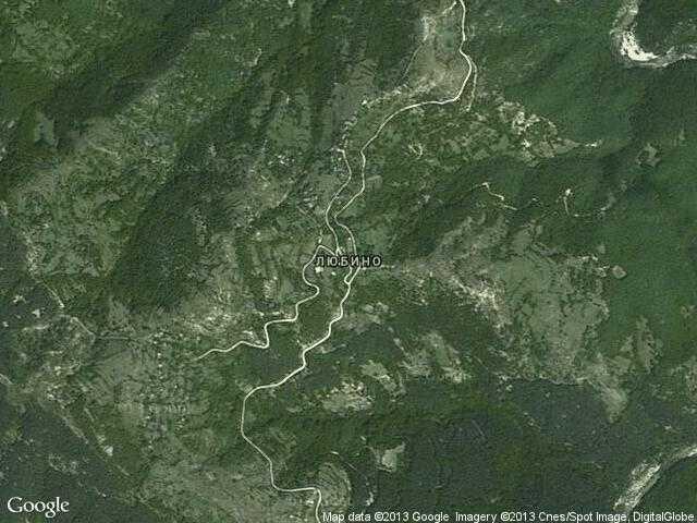 Сателитна карта на Любино