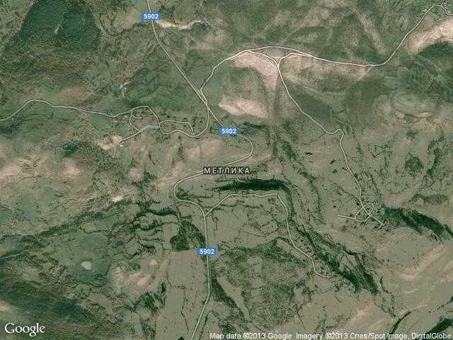 Сателитна карта на Метлика