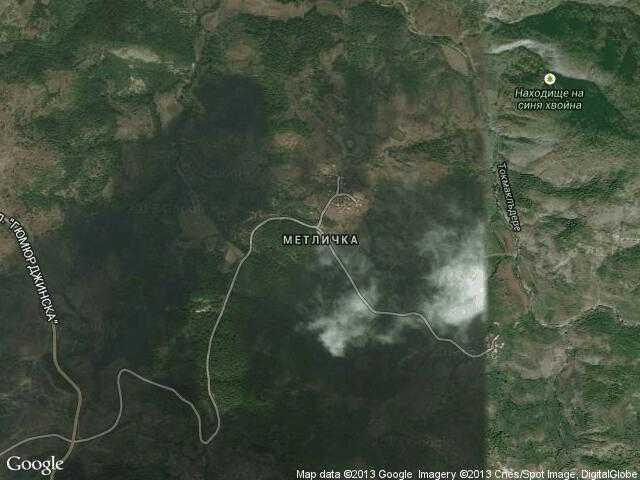 Сателитна карта на Метличка
