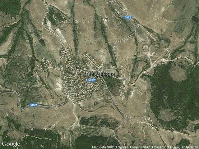 Сателитна карта на Миладиново