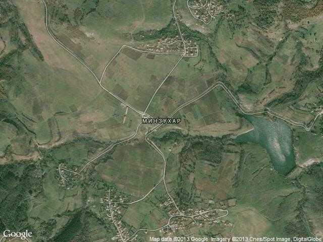 Сателитна карта на Минзухар