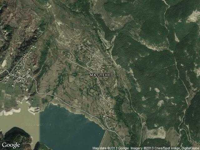 Сателитна карта на Мъглене